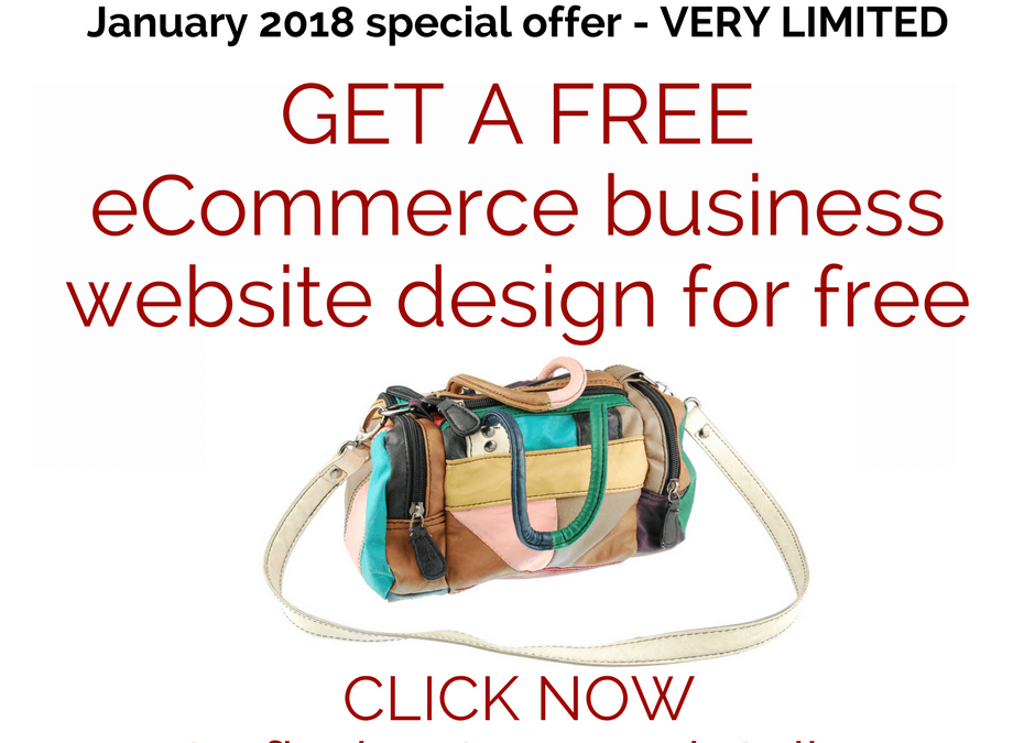 eCommerce Website Design Special Offer – January 2018