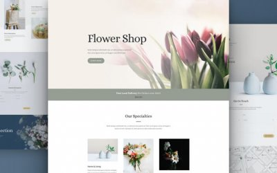 Floral or Flower shop WordPress Theme Template